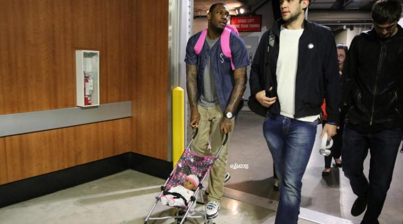 Los Angeles Lakers' rookies are carrying around baby dolls this season