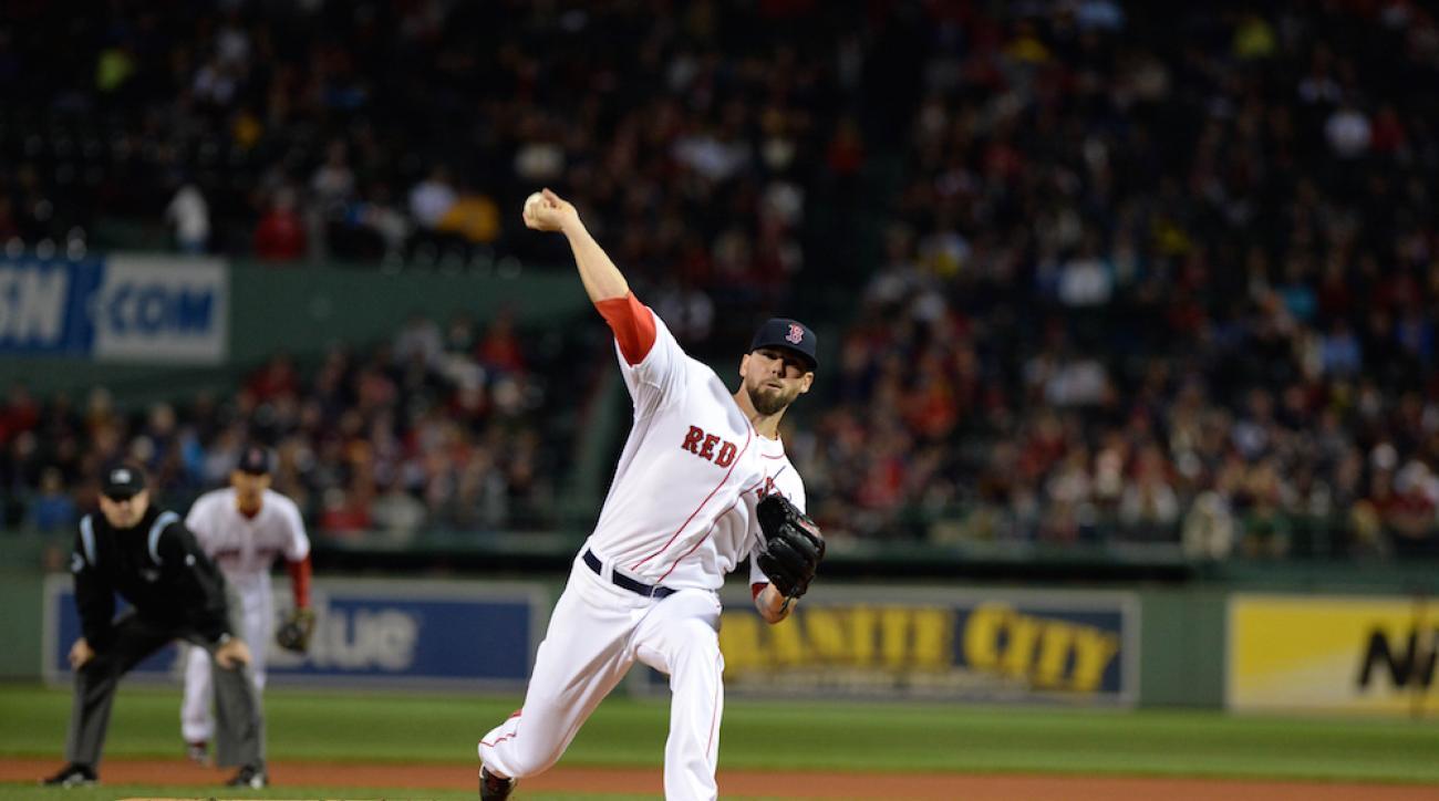 The Boston Red Sox traded right-hander Anthony Ranaudo to the Texas Rangers on Tuesday.