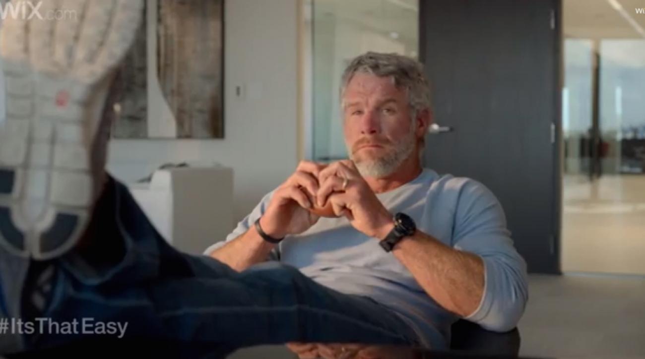 """Brett Favre and Lloyd from """"Entourage"""" star in a Super Bowl ad for Wix.com"""