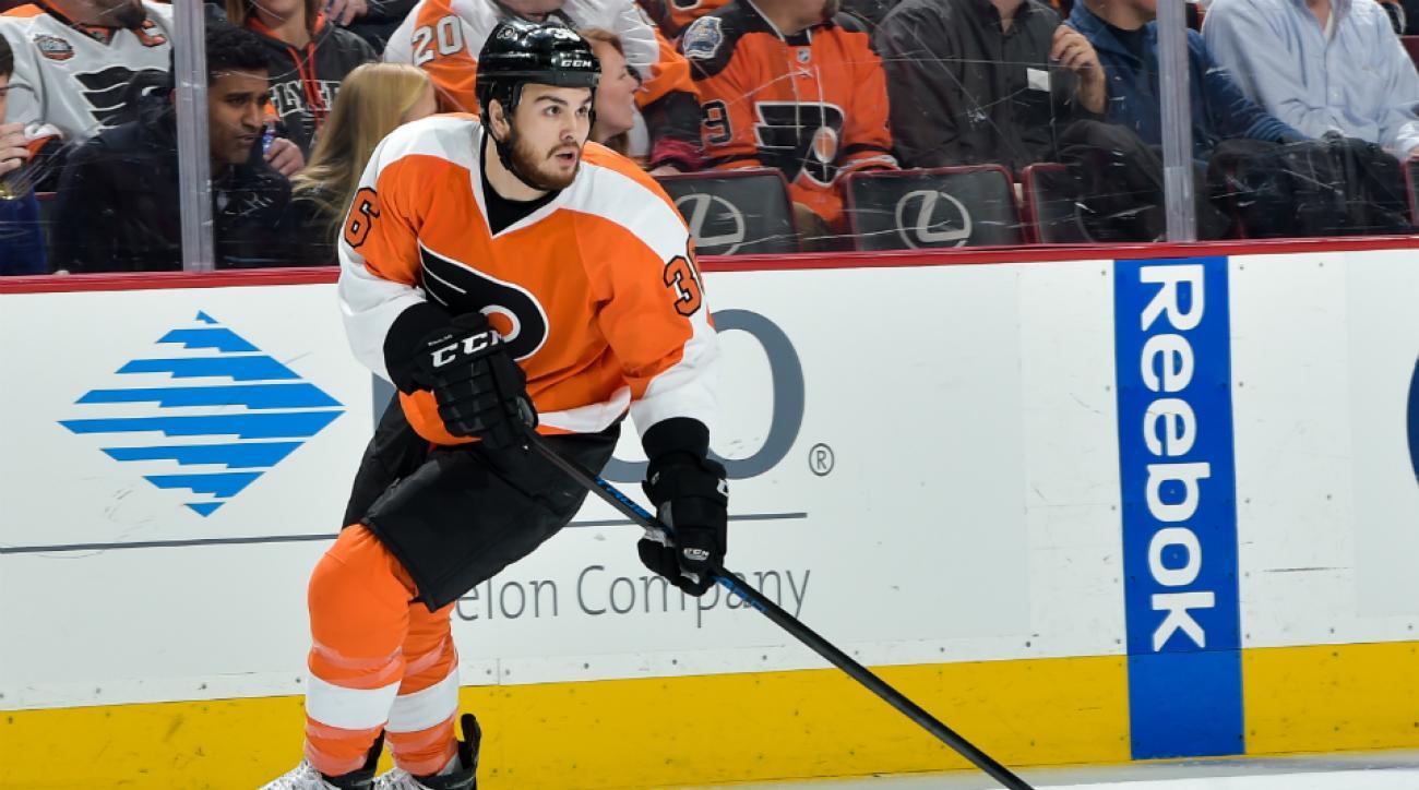 Flyers F Zac Rinaldo suspended for hit on Kris Letang