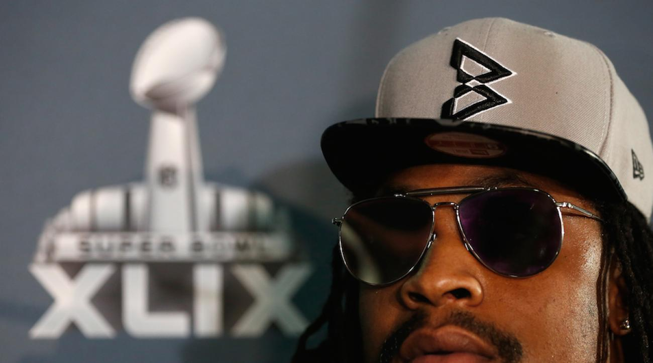 """Seattle Seahawks running back Marshawn Lynch is celebrated in a """"Won't Get Fined"""" song."""
