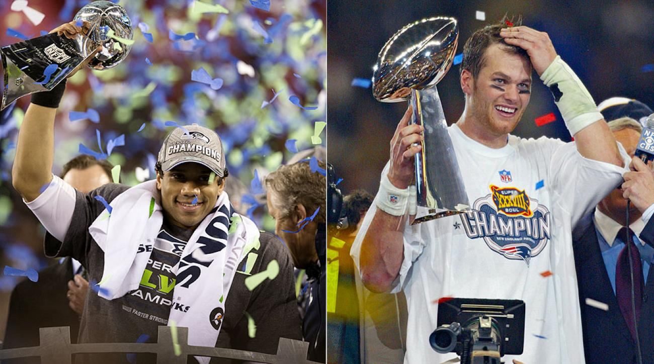 Russell Wilson and Tom Brady