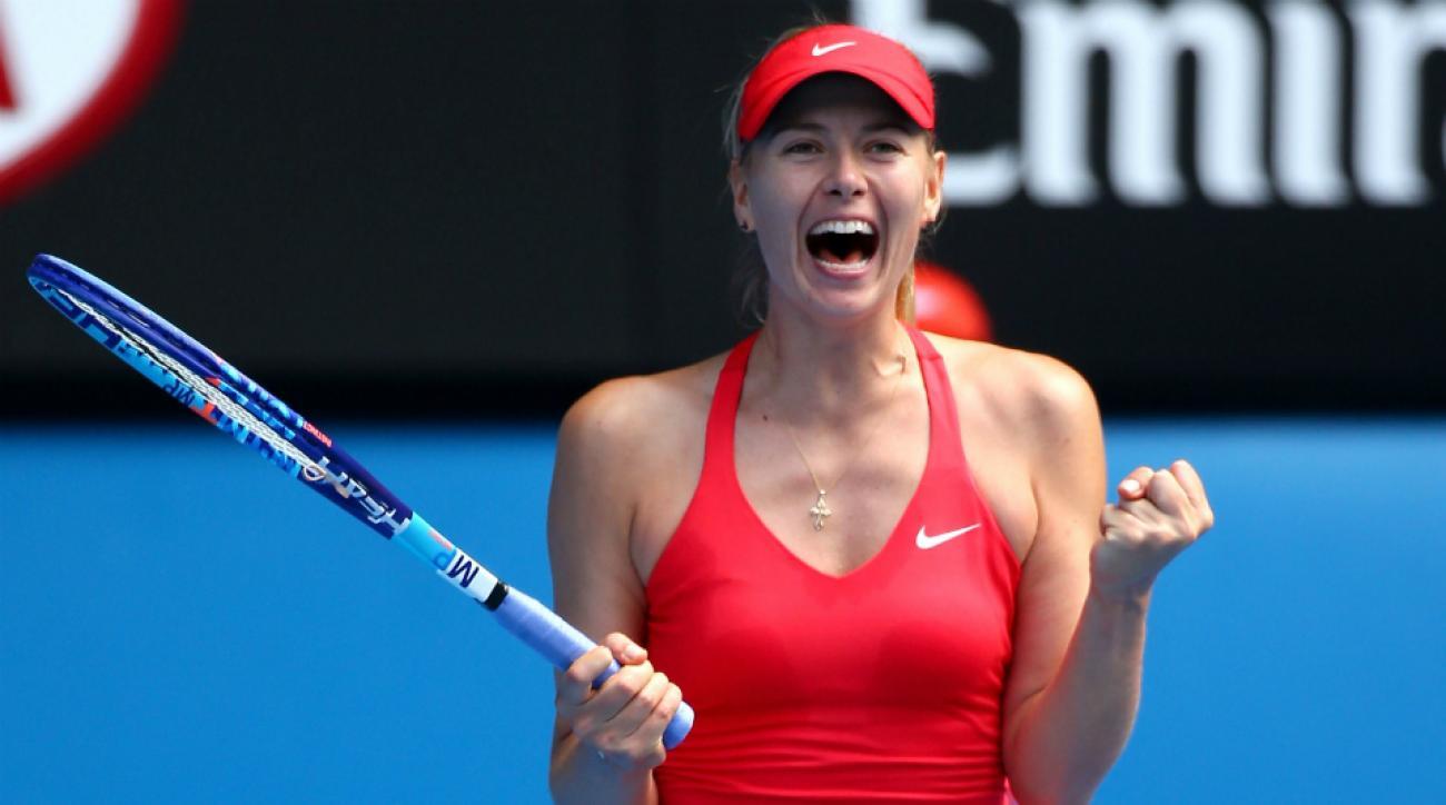 sharapova reaches australian open final, beats makarova