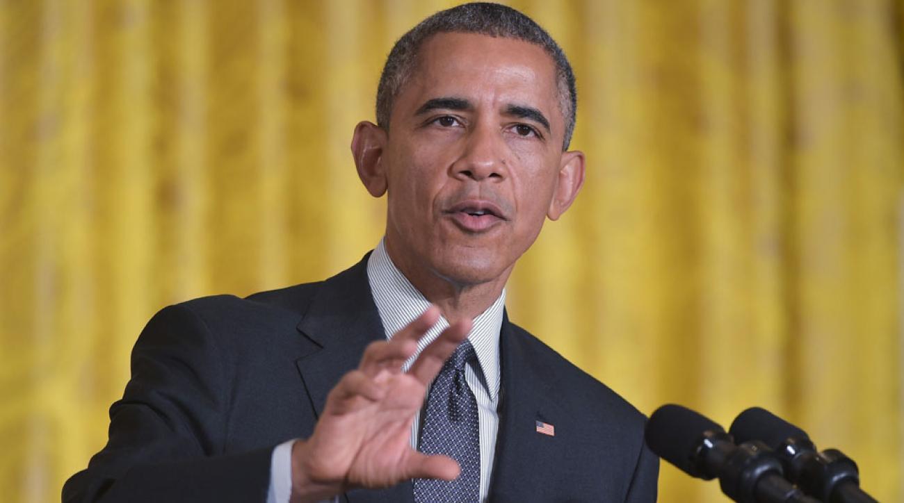President Barack Obama did not pick the winner of Super Bowl XLIX.