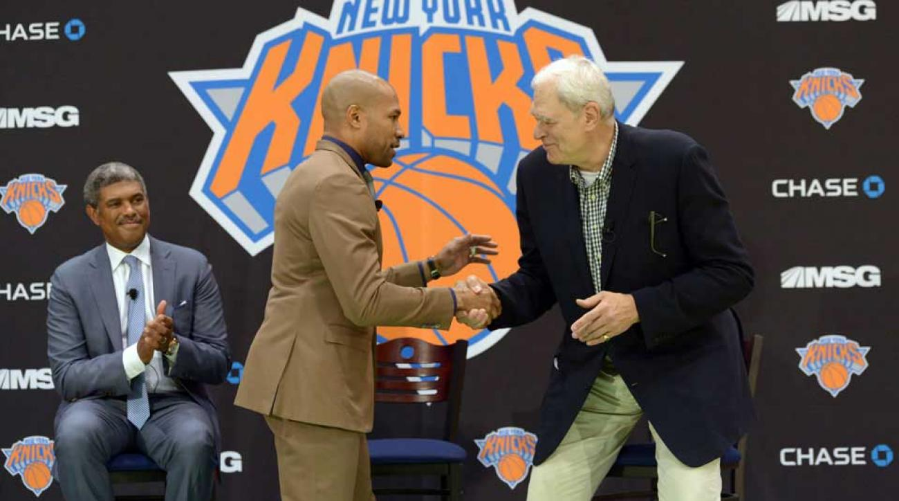 Phil Jackson Derek Fisher Lakes Knicks Facing former team