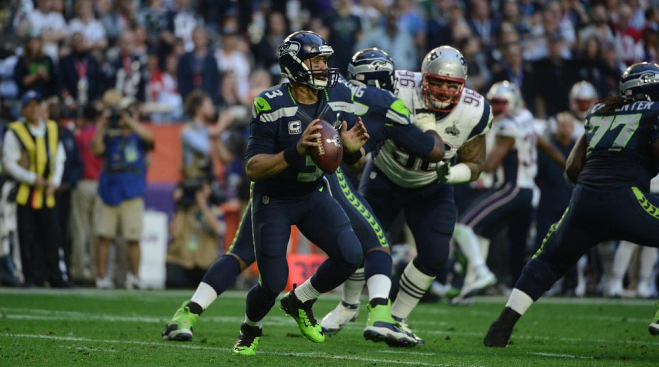 Russell Wilson Seattle Seahawks touchdown Super Bowl 2015