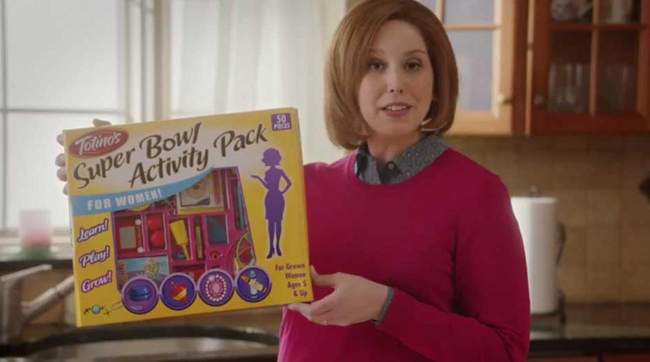 Totinos Super Bowl Commercial Sexist Saturday Night Live women activity pack