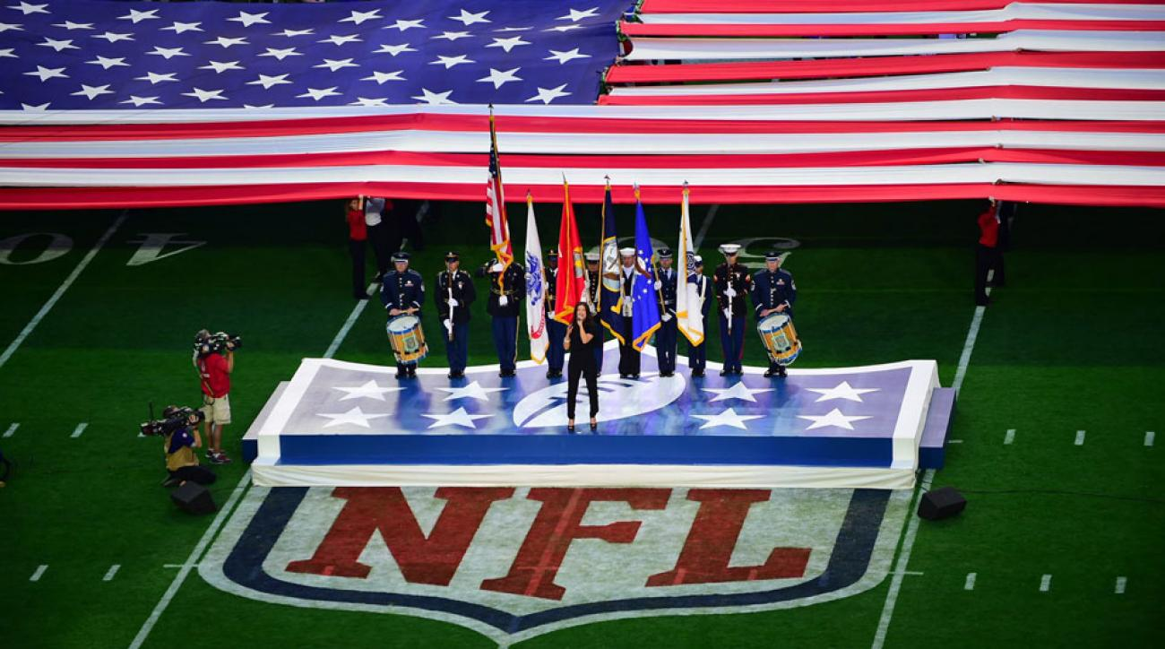 Super Bowl 2015 Idina Menzel national anthem