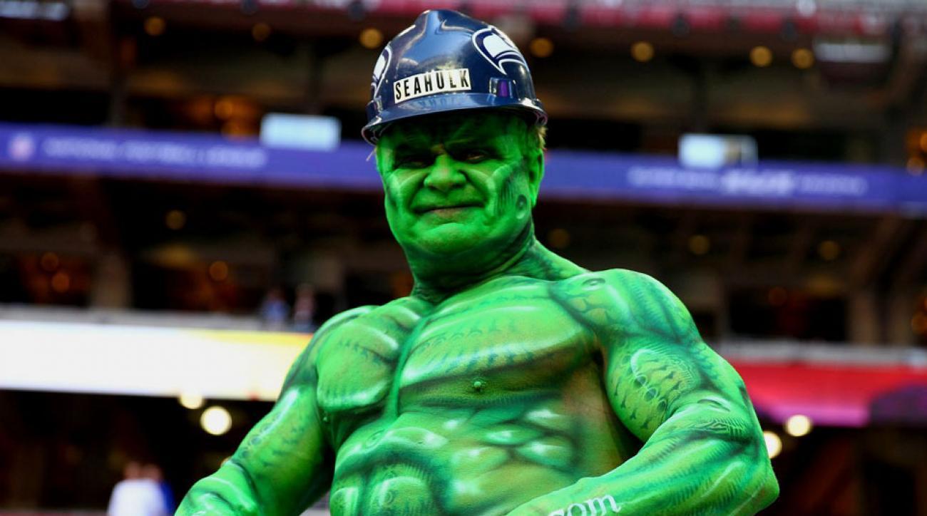 Seahulk 12th man Seahawks super fan