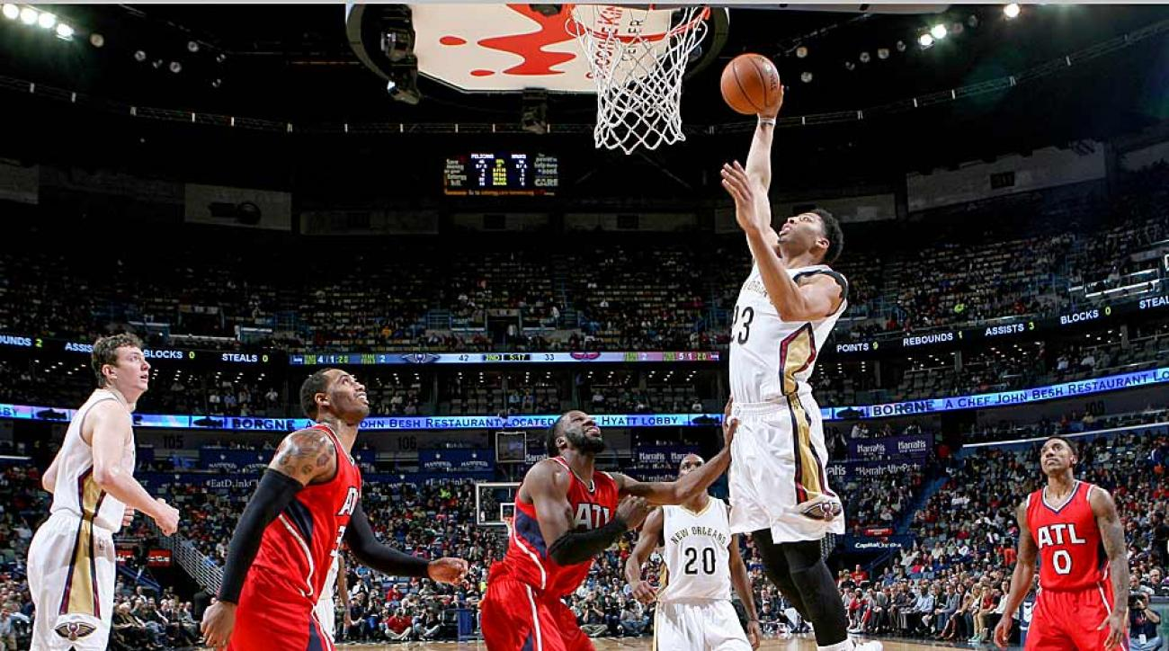 Anthony Davis Pelicans vs. Hawks