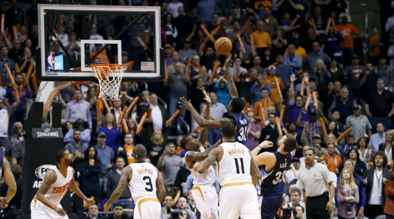 Jeff Green game-winning and-one Grizzlies vs suns