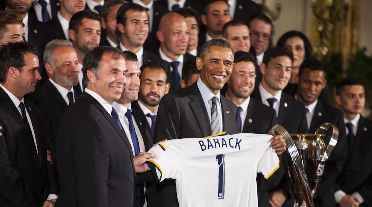 president obama la galaxy white house trip