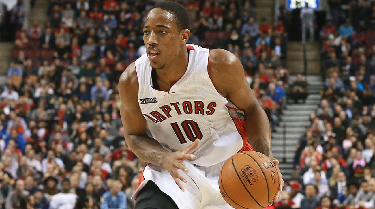 Raptors guard DeMar DeRozan was ejected against the Nets on Wednesday.
