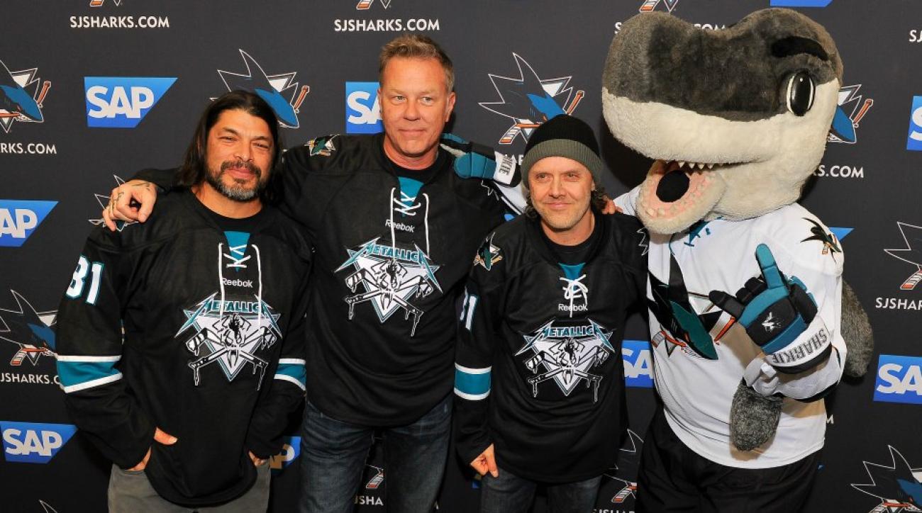 Sharks auctioning off Metallica jerseys
