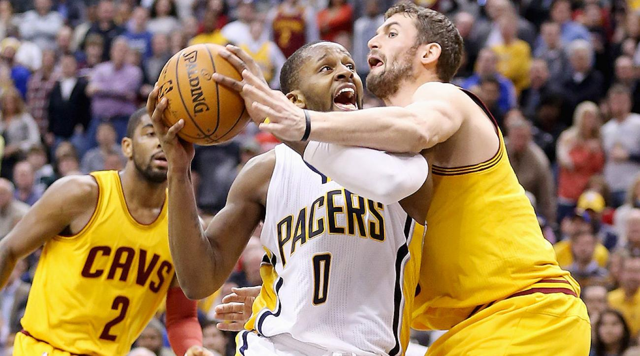 Pacers snapped the Cavaliers 12-game winning streak Friday night.