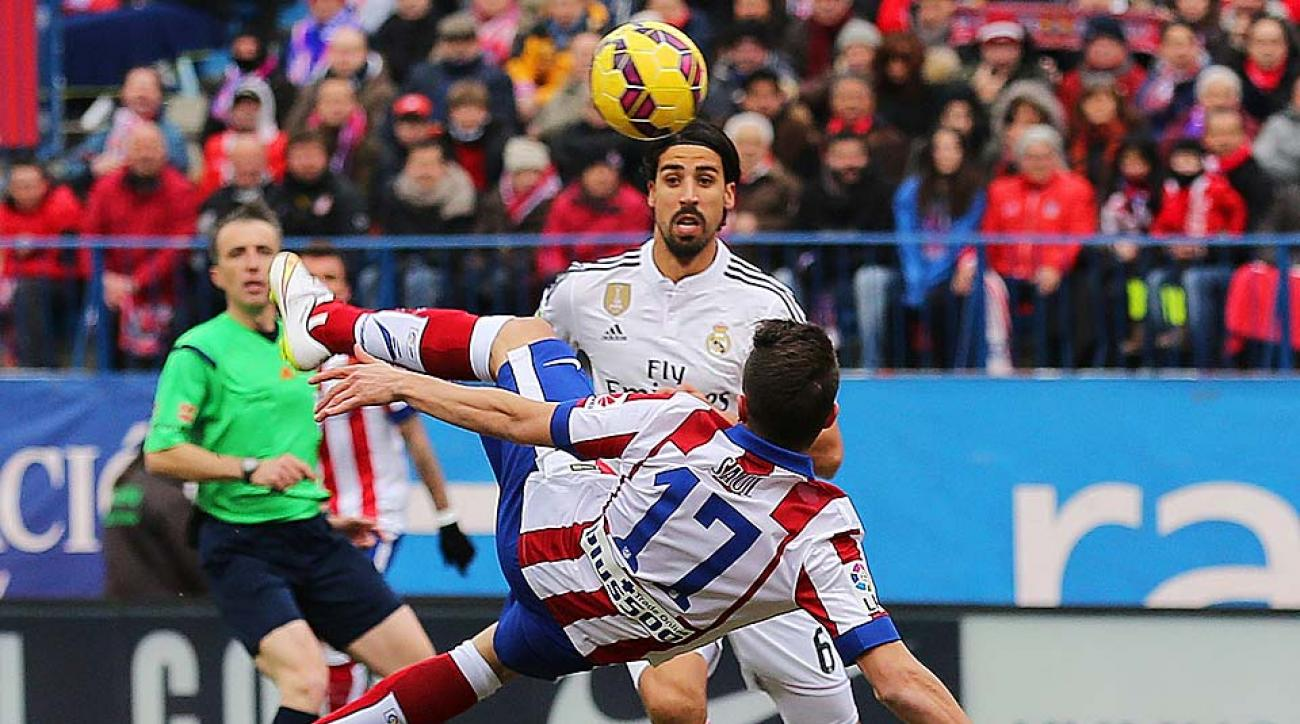 Saul bicycle kick goal Atletico Madrid