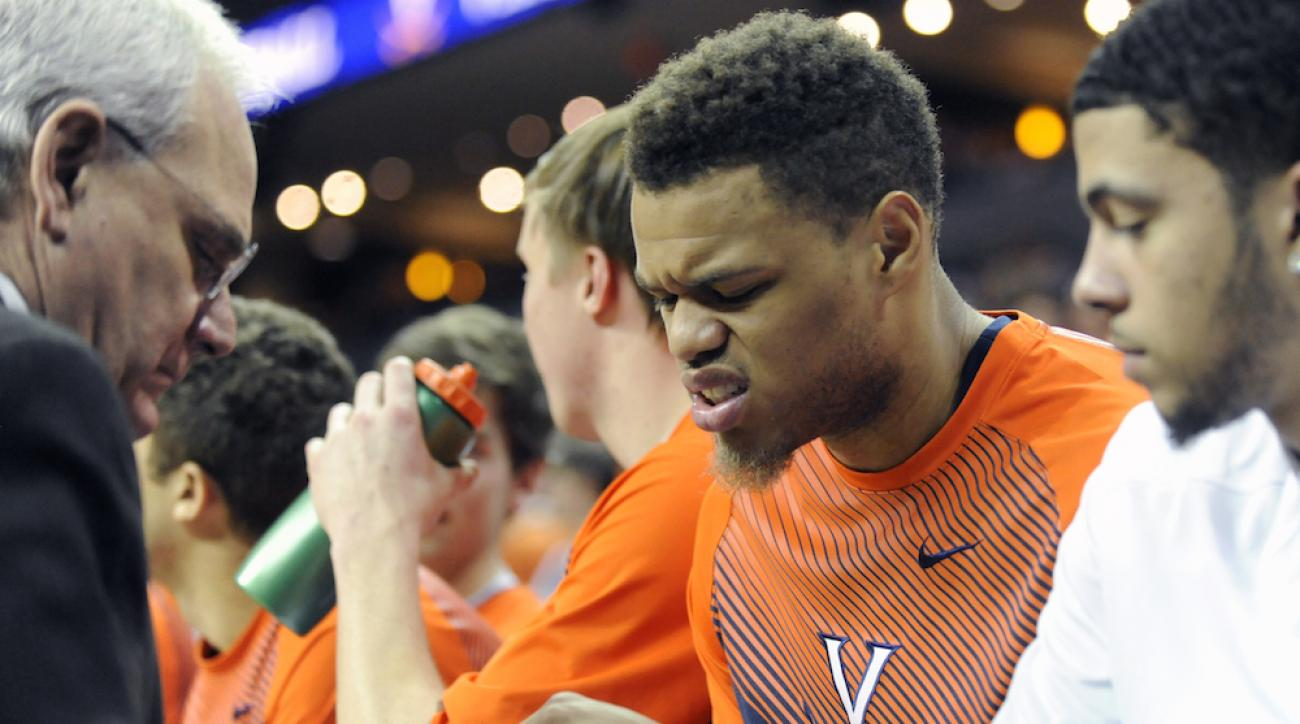 virginia cavaliers justin anderson injury hand finger