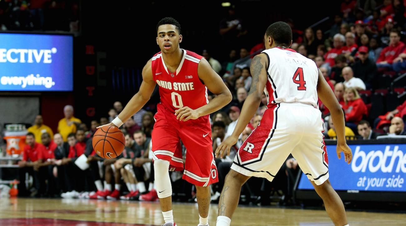 ohio state dangelo russell triple double rutgers