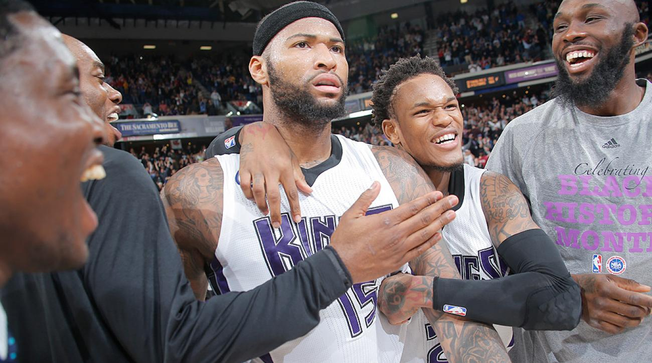 DeMarcus Cousins questioned the media following Sacramento's win against Phoenix.
