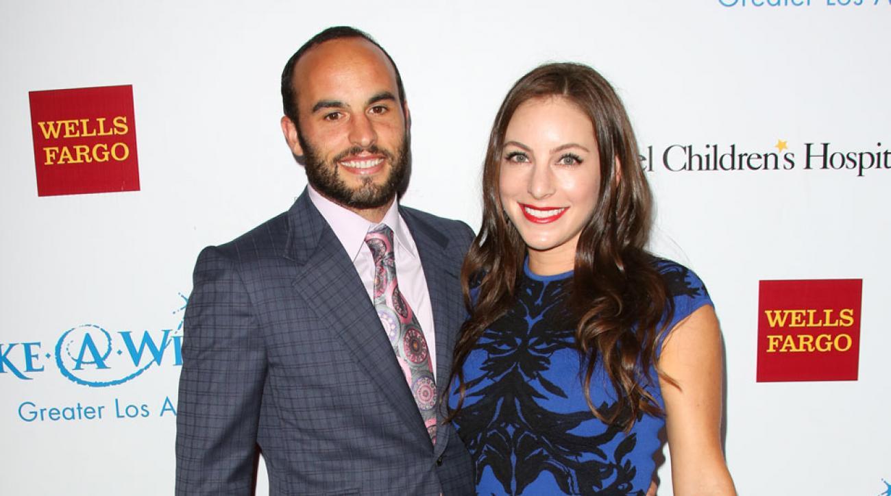 Landon Donovan and Hannah Bartell