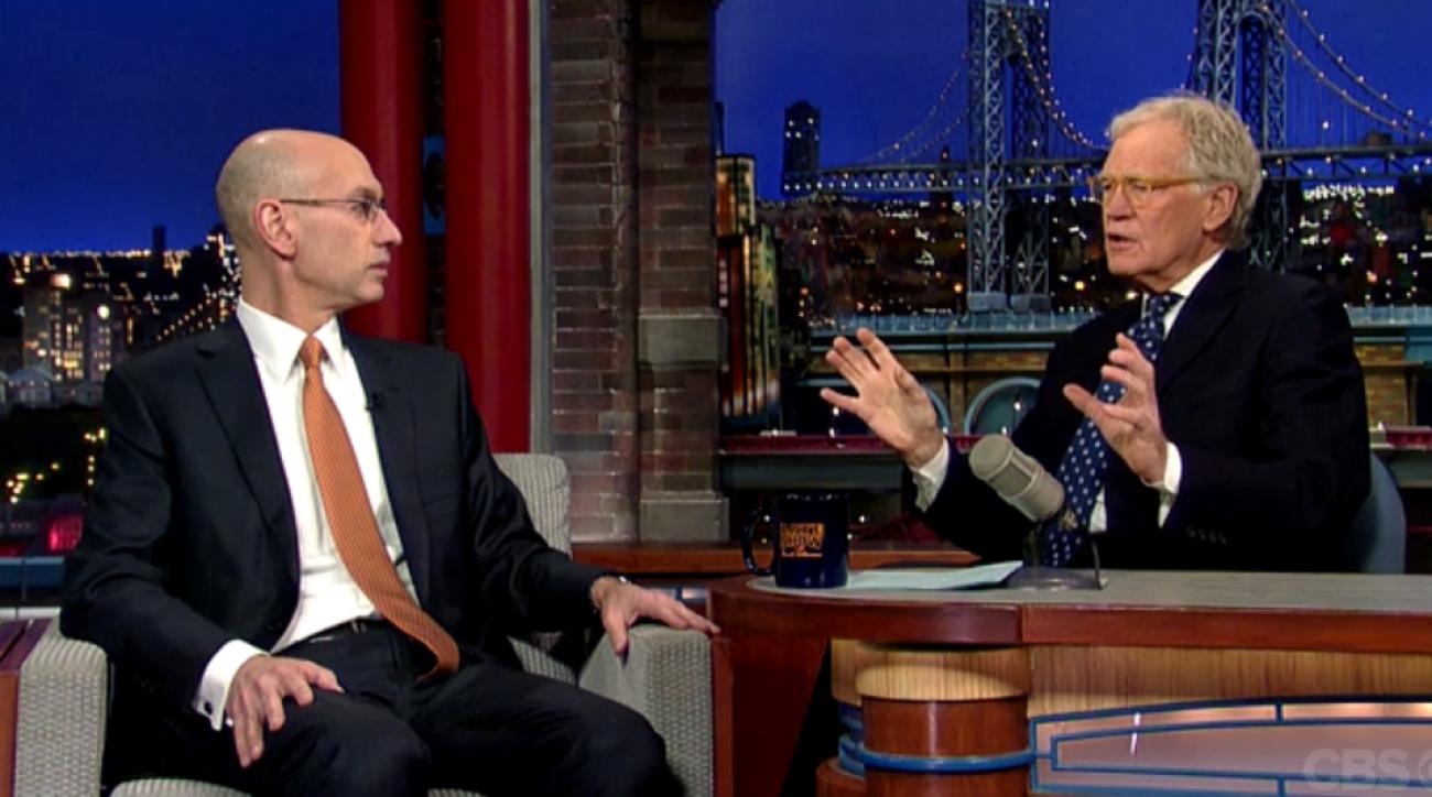 Adam Silver appears on David Letterman