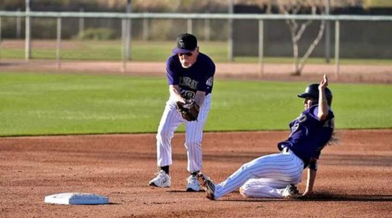 88-year-old attempts to charge mound at Rockies Fantasy Camp