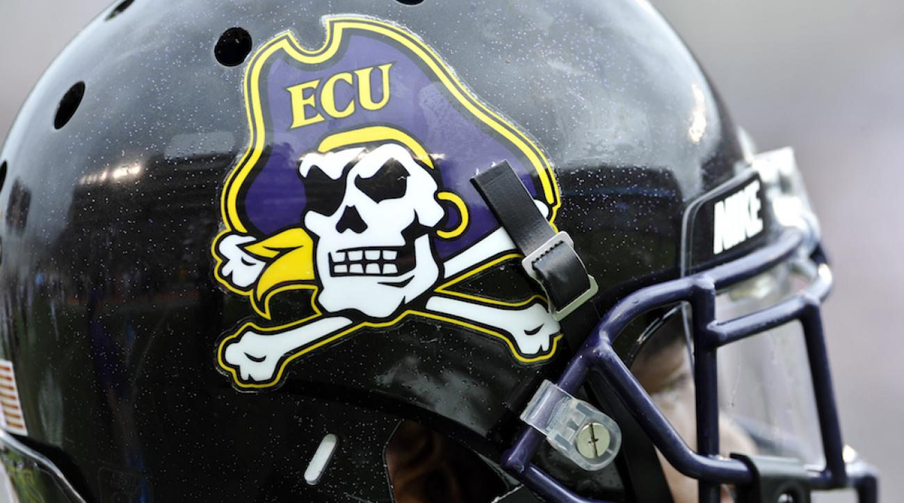 ecu pirates football helmet