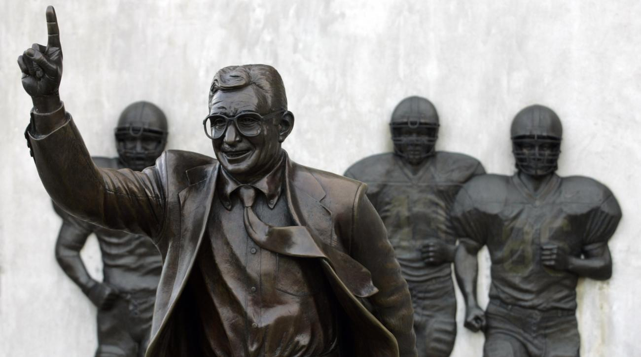 Joe Paterno statue restored