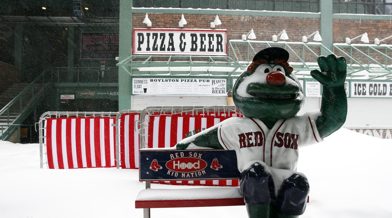 boston snow fenway park red sox photos