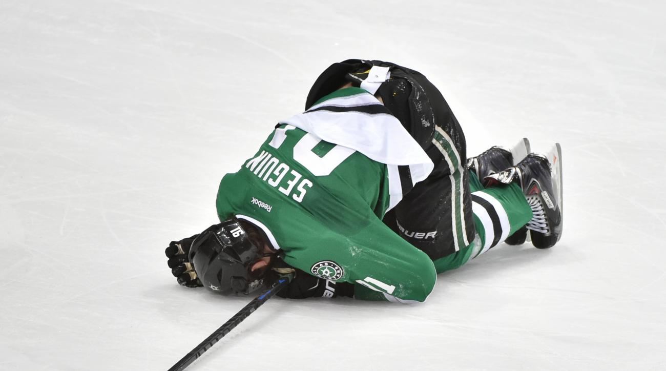 tyler seguin injury knee kulikov hit