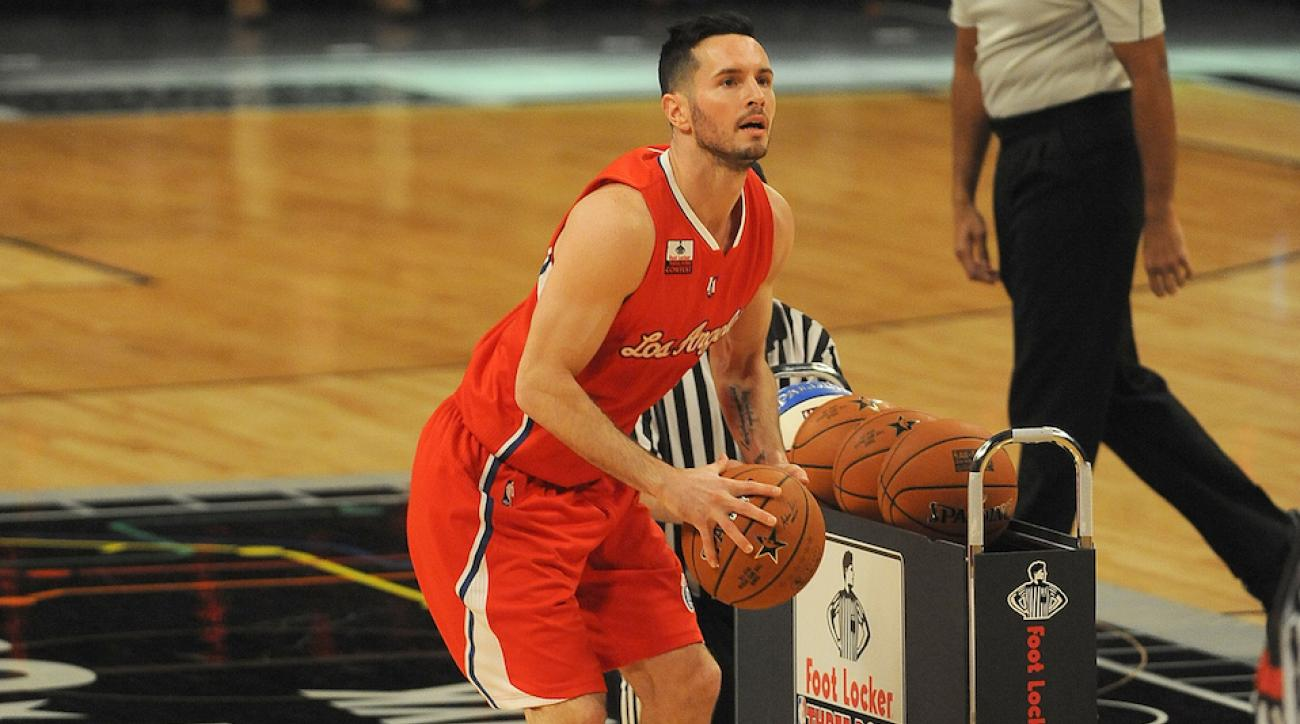 JJ Redick three point competition stepped on line