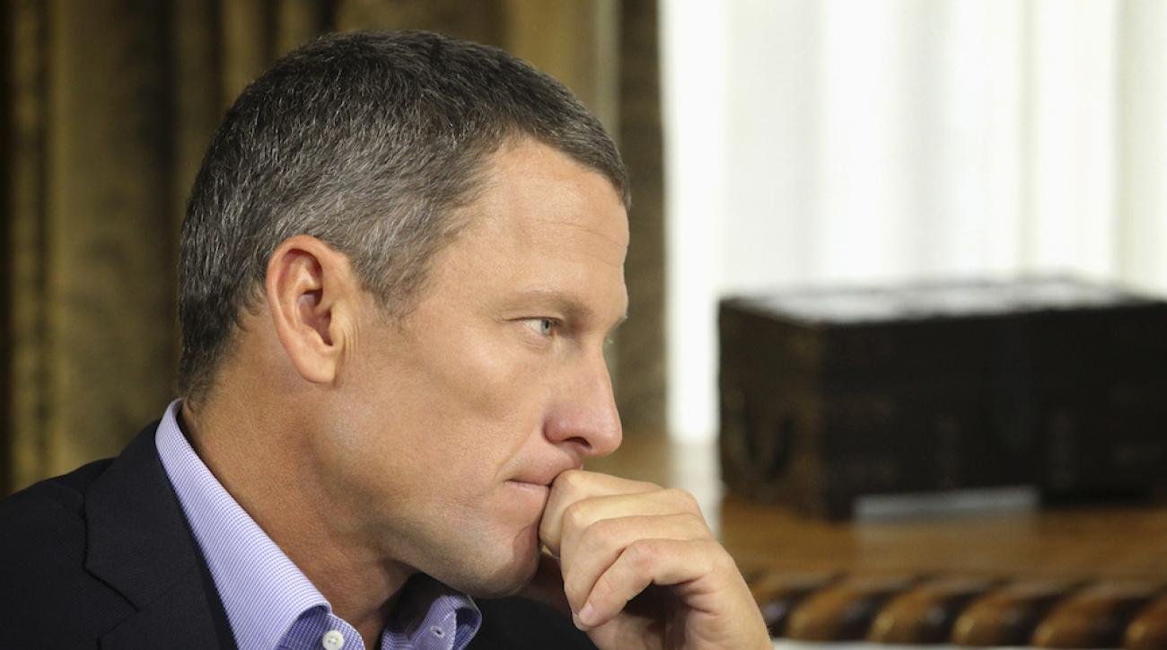 Lance Armstrong during an interview with Oprah Winfrey on Jan. 14, 2013.
