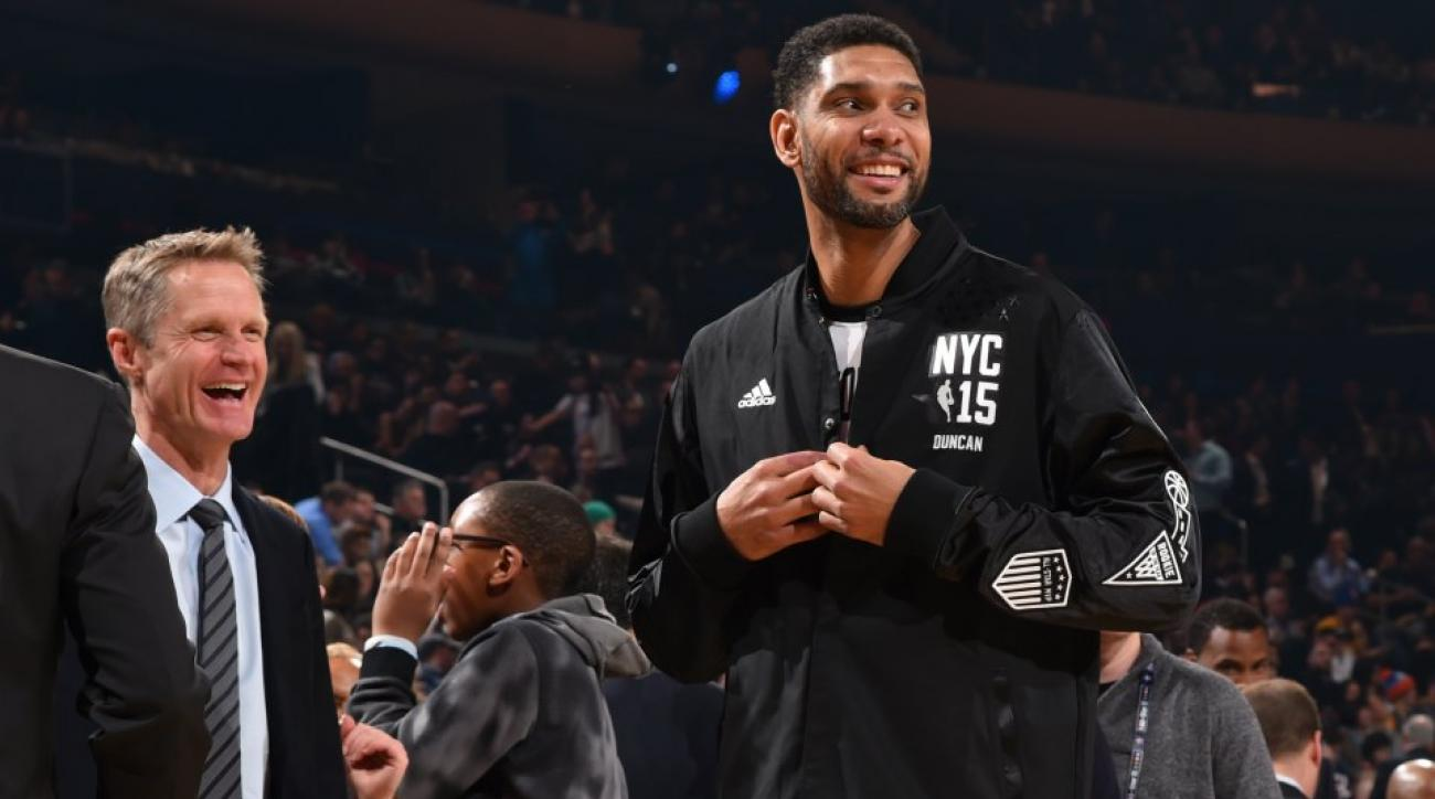 Steve Kerr, Tim Duncan have lots of fun at the All-Star Game
