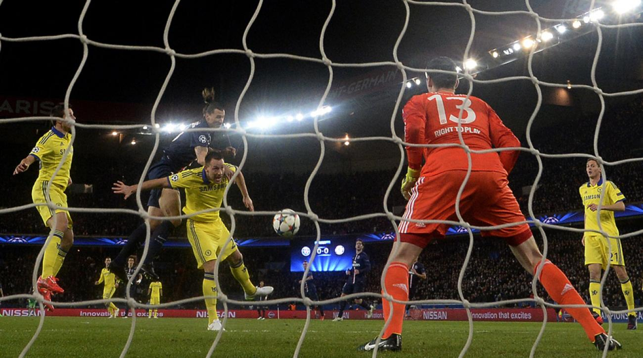 Thibaut Courtois held his ground for Chelsea against PSG, denying the likes of Zlatan Ibrahimovic and ensuring their Champions League round-of-16 first leg ended in a draw.