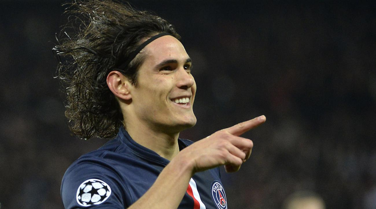 Edinson Cavani scored for PSG to level the game against Chelsea in the Champions League.