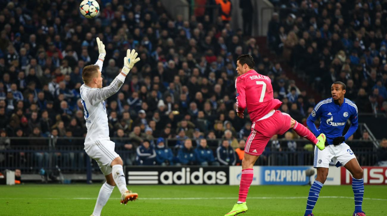 Cristiano Ronaldo scored to give Real Madrid a 1-0 lead in the Champions League.