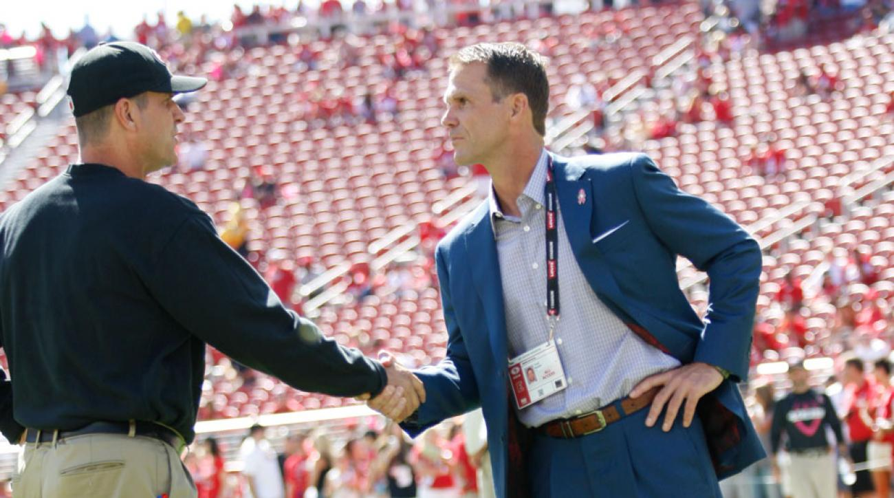 Jim Harbaugh Trent Baalke 49ers