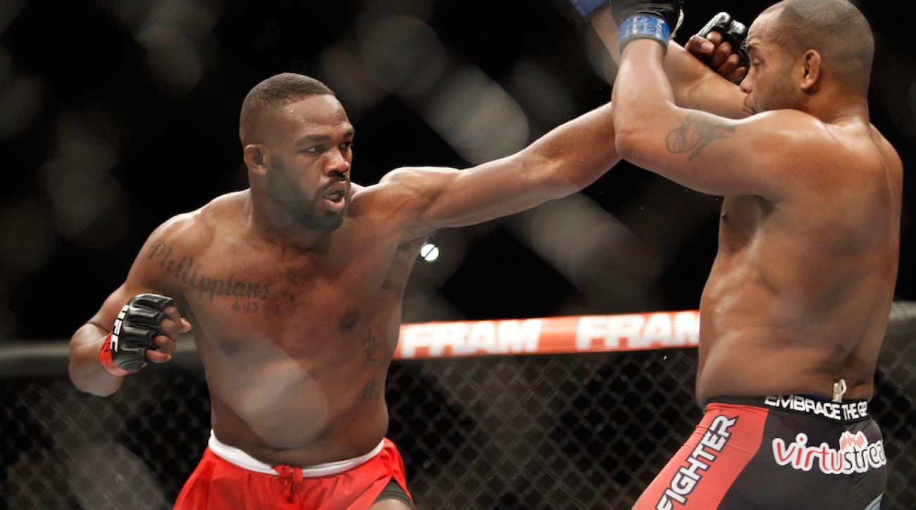 Jon Jones punches at Daniel Comier during UFC 182 on Jan. 3.