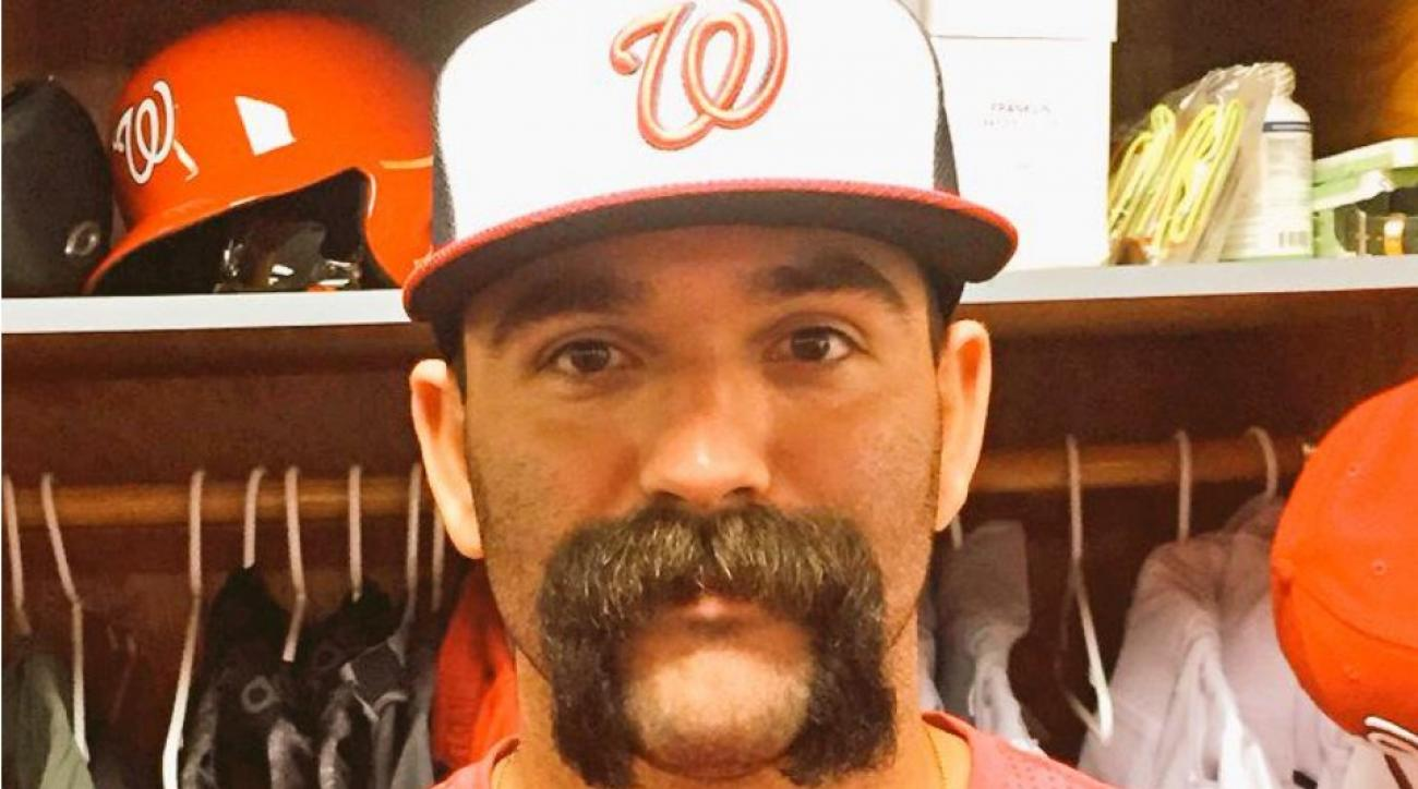 Nationals' Danny Espinosa reported to camp with massive Fu Manchu