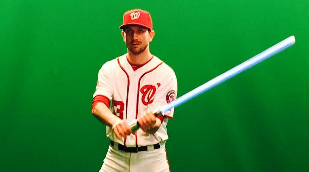 The Nationals are playing with a lightsaber