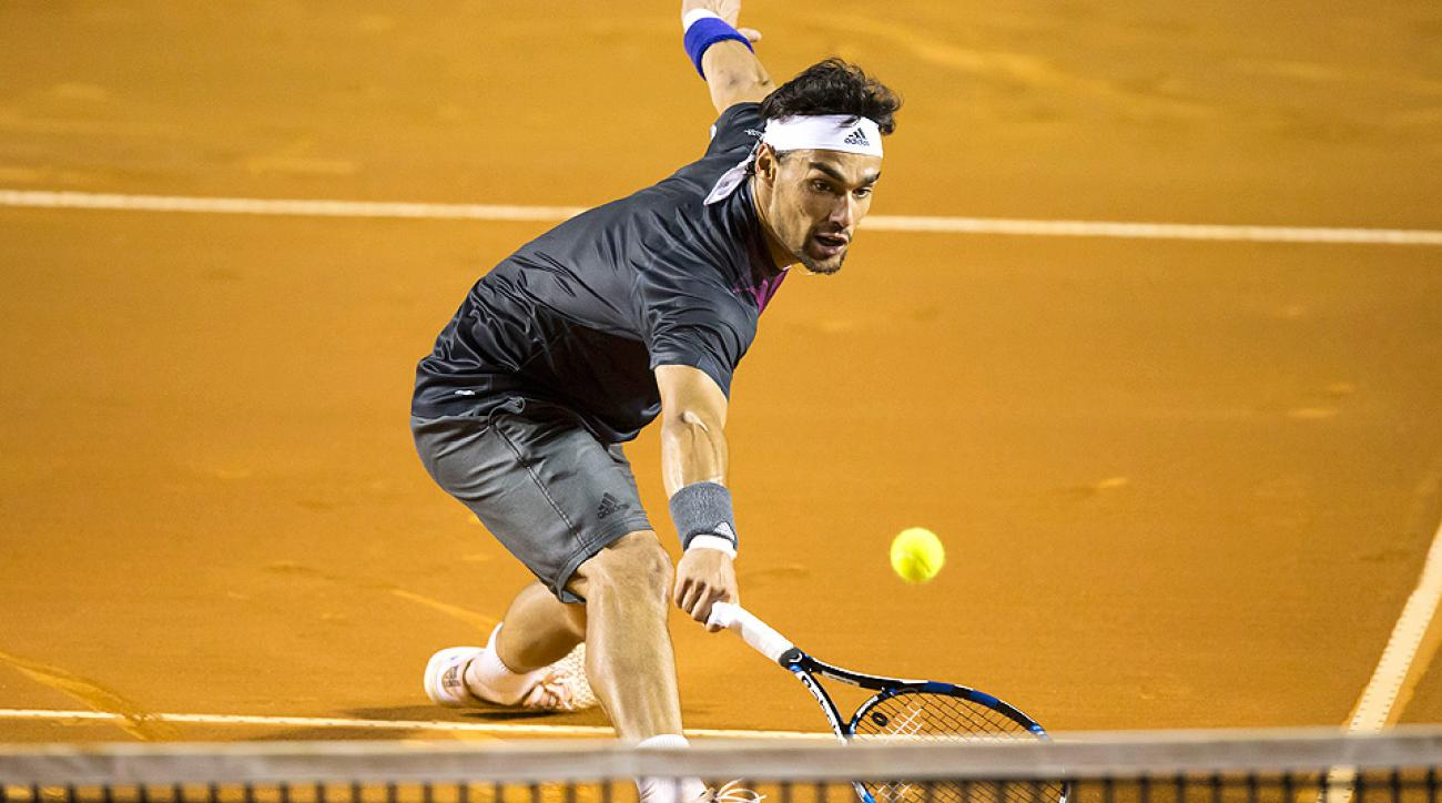 Fabio Fognini upset Rafael Nadal at the Rio Open.