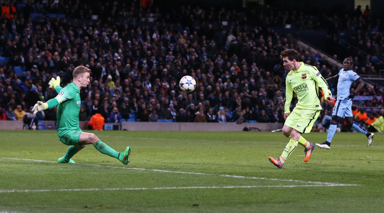Lionel Messi missed a penalty for Barcelona against Manchester City in the Champions League.