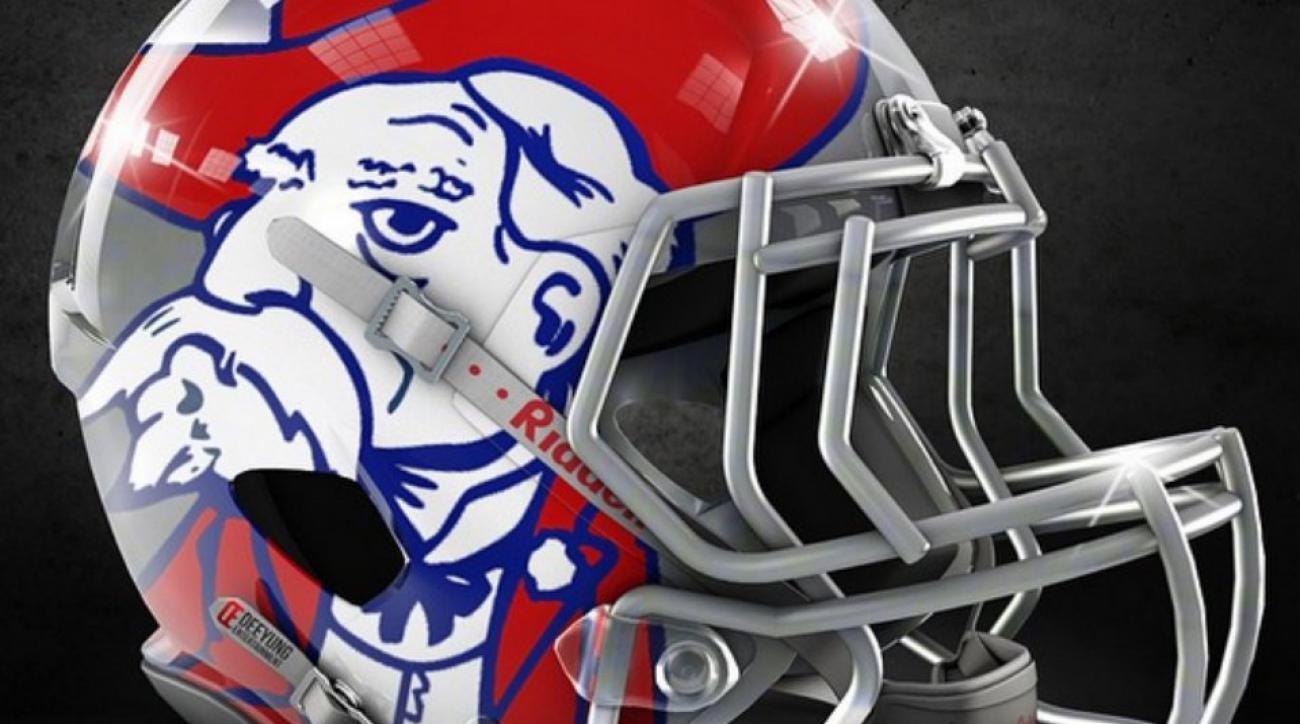 Graphic designer makes alternate helmets for college football teams