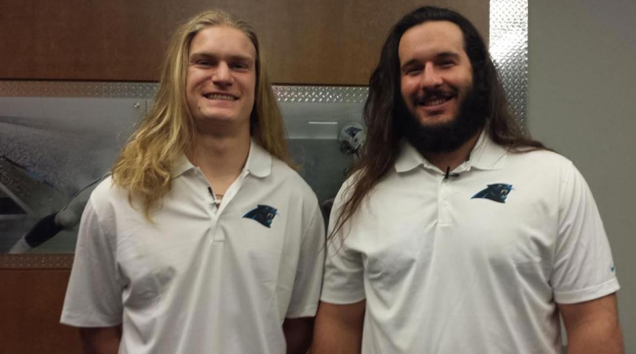Panthers players cut hair
