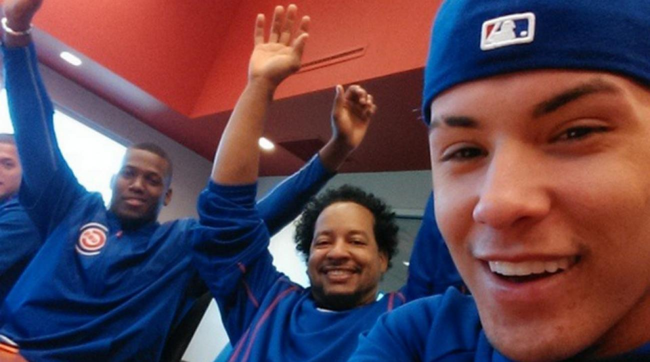 Chicago Cubs Manny Ramirez Javier Baez selfie