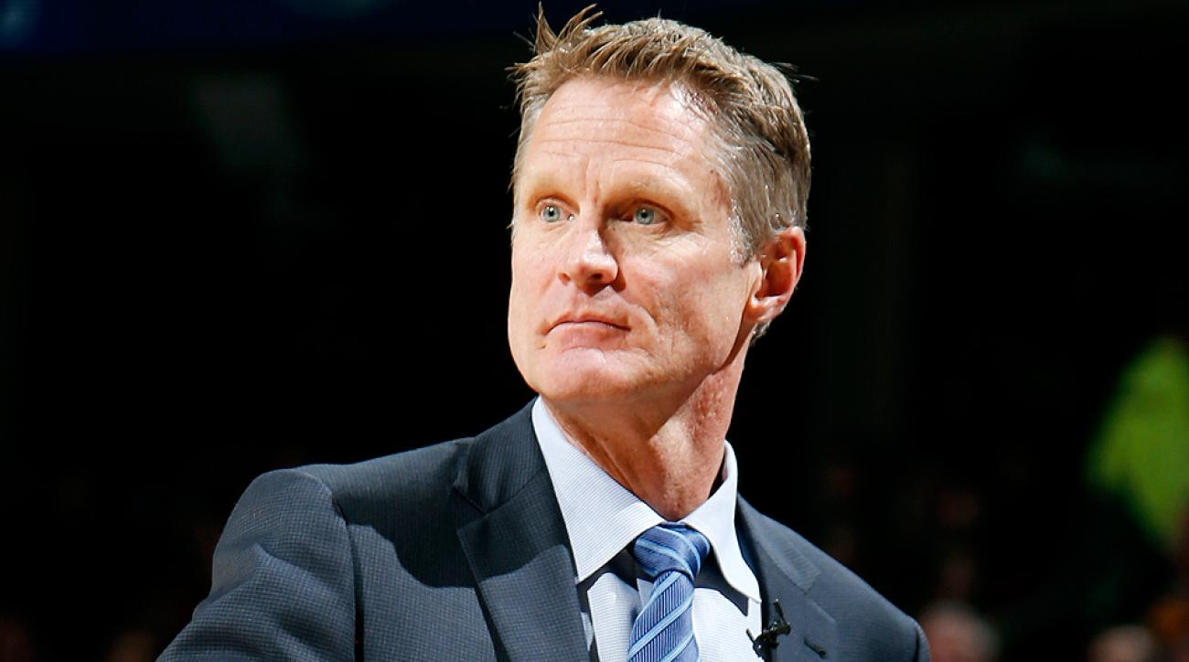 Warriors coach Steve Kerr during the team's 110-99 loss to the Cavaliers.
