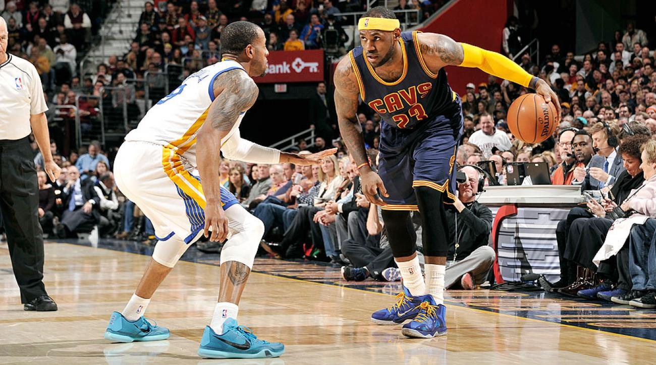 LeBron James scored a season-high 42 points against the Warriors.