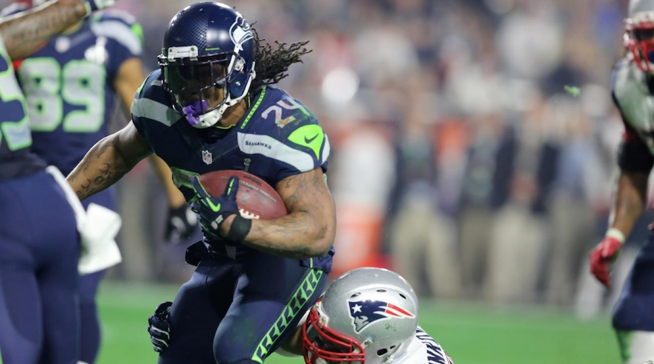 big sale 66602 81a06 Marshawn Lynch on Super Bowl call: I was expecting the ball ...