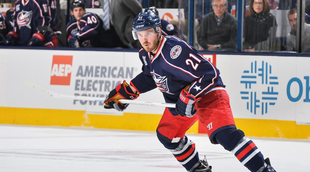 James Wisniewski skates for the Columbus Blue Jackets in a Feb. 26 game against the Montreal Canadiens.