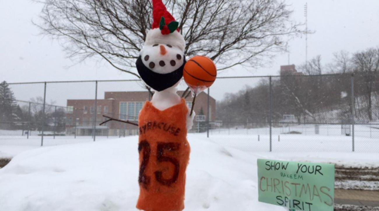Syracuse basketball Rakeem Christmas snowman